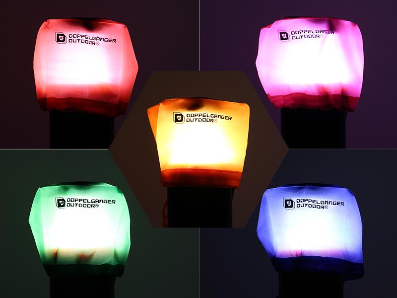 ナイトデコレーションセットの各部の特徴(白いライトがカラフルに)