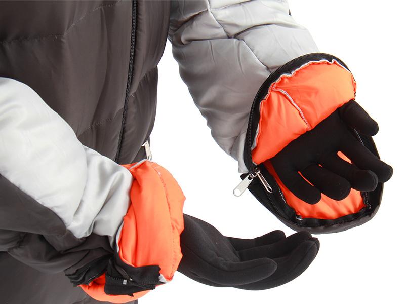 人型寝袋ver6.0 ダウンシリーズ の各部の特徴(ハンドジッパー)