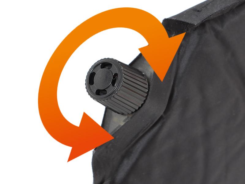 マットインスリーピングバッグの各部の特徴(オートマチックエアバルブ)