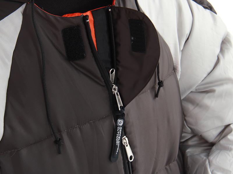 人型寝袋ver6.0 ダウンシリーズ の各部の特徴(ダブルジッパー)