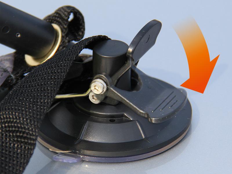 ワンタッチカーサイドタープの各部の特徴(気圧調整吸盤)