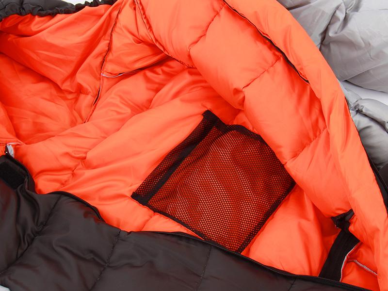 人型寝袋ver6.0 ダウンシリーズ の各部の特徴(メッシュ製内ポケット)