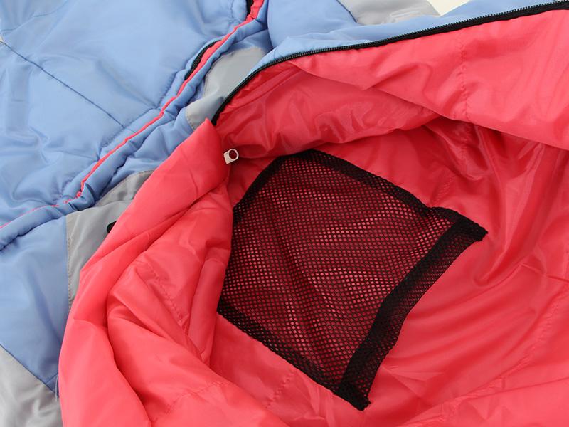 人型寝袋ver7.0 ダウンシリーズの各部の特徴(メッシュ製内ポケット)