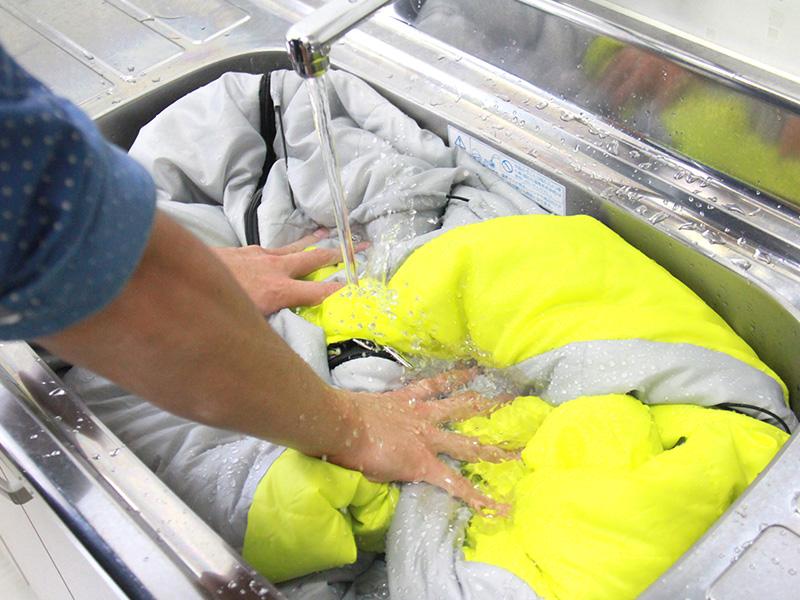 人型寝袋ver6.0 ダウンシリーズ の各部の特徴(丸洗い可能)