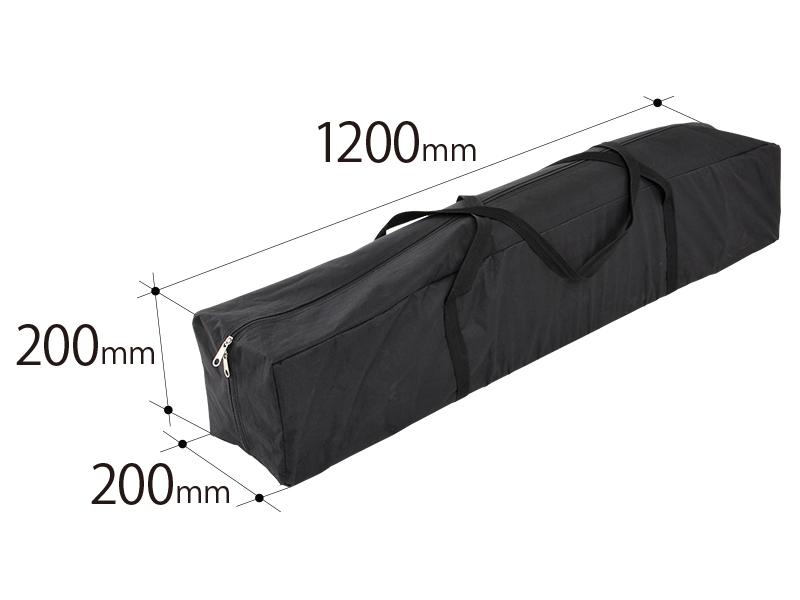 ワンタッチリビングタープの各部の特徴(専用キャリーバッグ)