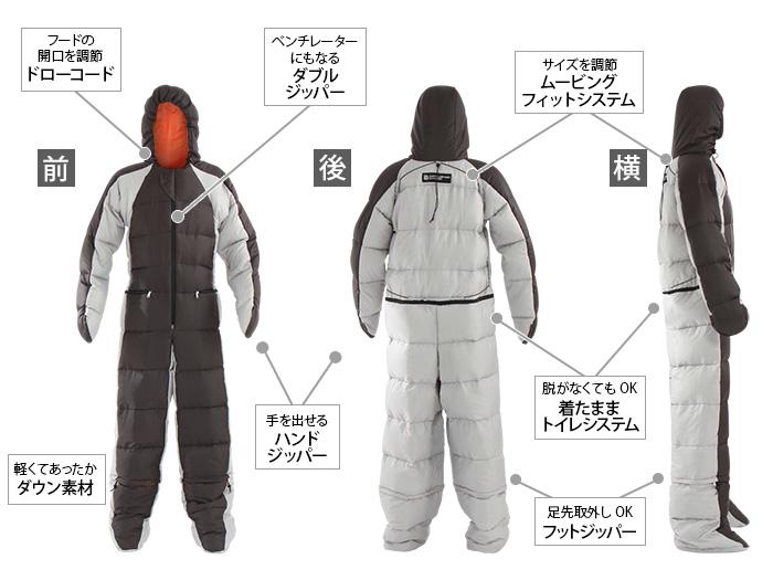 人型寝袋ver6.0 ダウンシリーズ の主な特徴