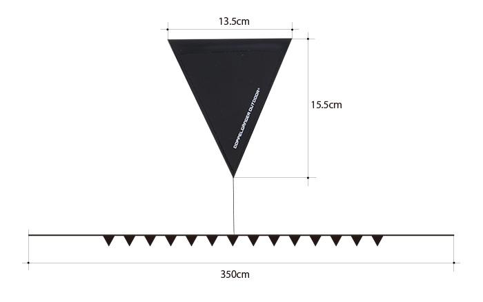 黒板フラッグガーランドのサイズ画像