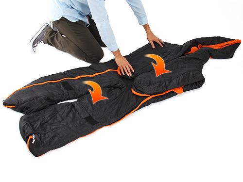 人型寝袋ver6.0の収納/撤収方法