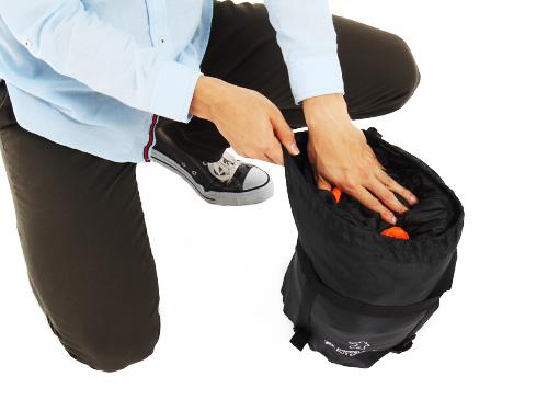 人型寝袋ver7.0 ヌクヌクシリーズの収納/撤収方法