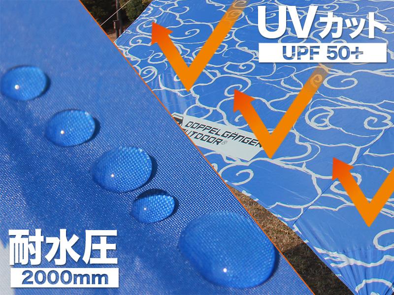フロシキタープのメインの特徴(UV50+/耐水圧2000mm)