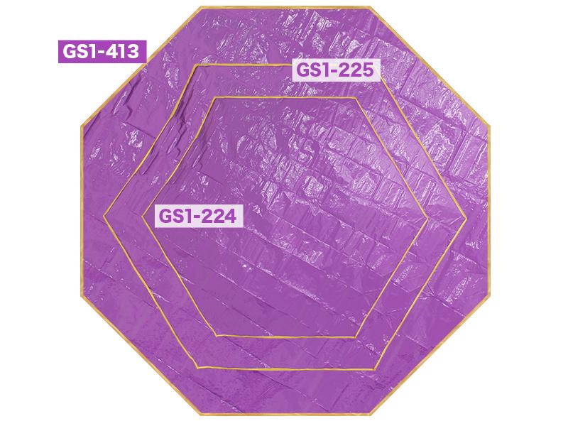 ワンポールテント用グランドシート(多角形タイプ)のメインの特徴(3サイズ展開)