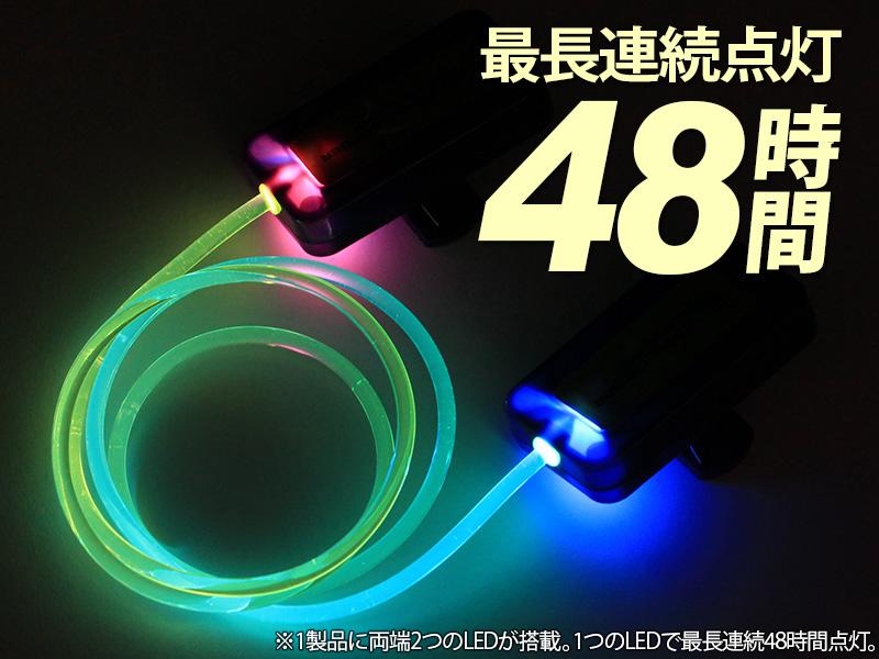 LEDテントロープライトのメインの特徴(連続点灯48時間)