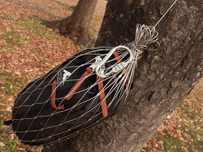 キャリーワゴン用ワイヤーロックのメインの特徴(貴重品類の盗難防止にも)