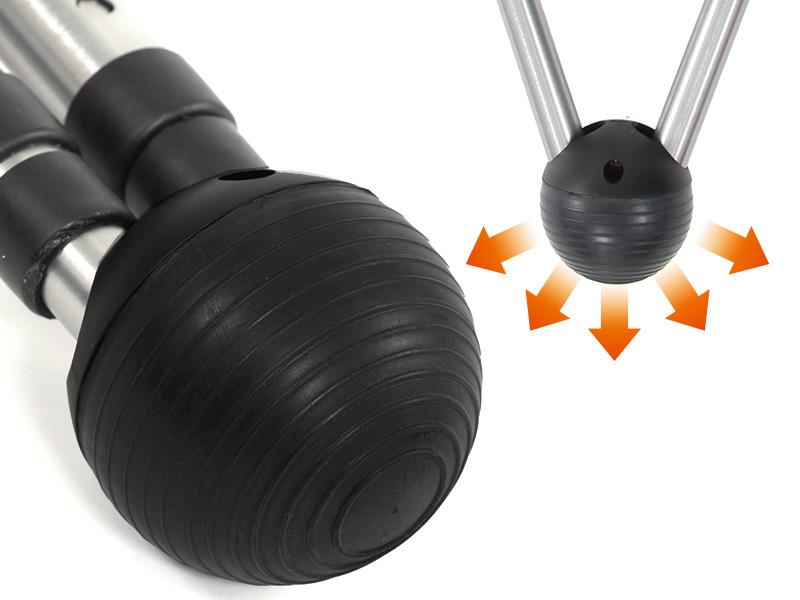 Vチェアの各部の特徴(ラバーボール)