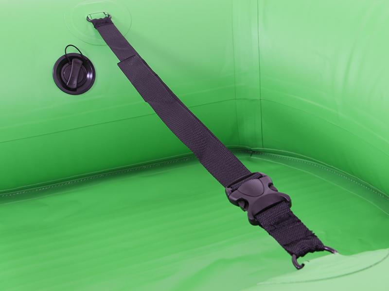キャリーワゴン用水陸両用アタッチメントの各部の特徴(キャリーワゴン固定用ベルト)
