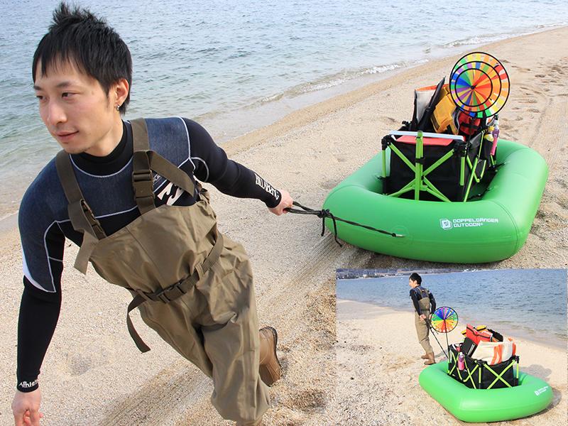 キャリーワゴン用水陸両用アタッチメントのメインの特徴()