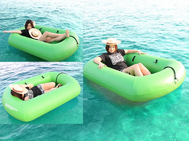 キャリーワゴン用水陸両用アタッチメントのメインの特徴(水上、雪上ボートとしても使える!)