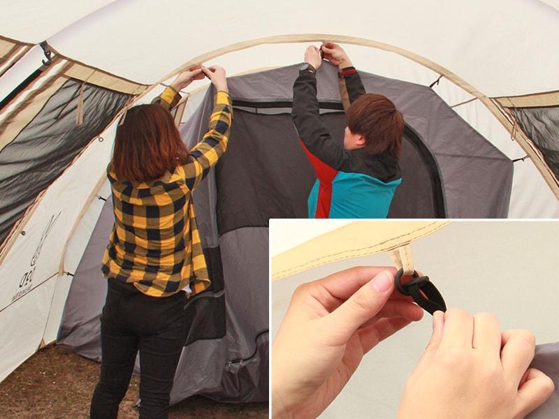 カマボコテント用インナーテントの組立/設営方法