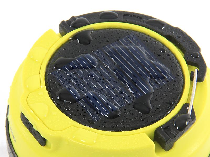 LEDソーラーポップアップランタンの各部の特徴(生活防水仕様)