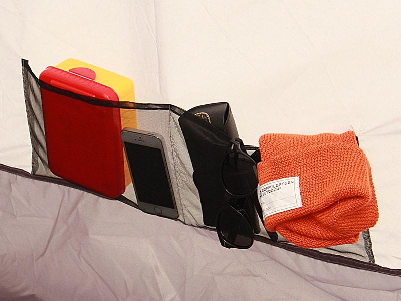 カマボコテントミニの各部の特徴(寝室ポケット)