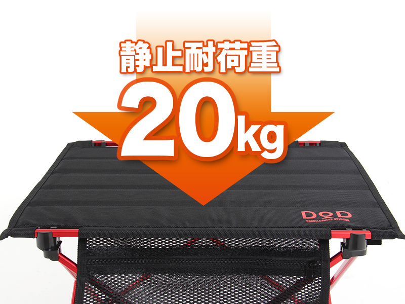 ライダーズテーブルの各部の特徴(静止耐荷重20kg)
