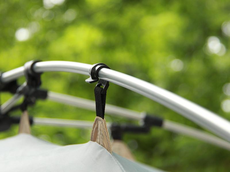 プレミアムワンタッチテントの各部の特徴(軽くて強いアルミ合金製ポール)