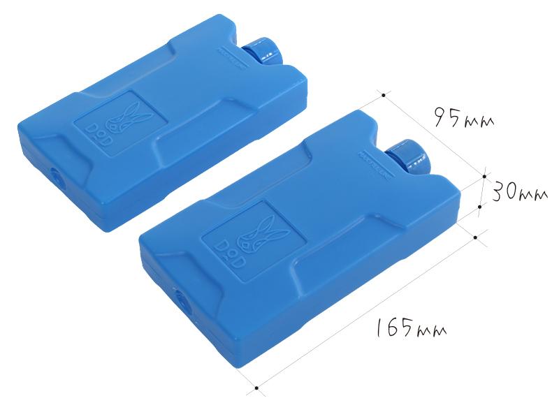 コールドサンダーの各部の特徴(コールドサンダー専用保冷剤×2)