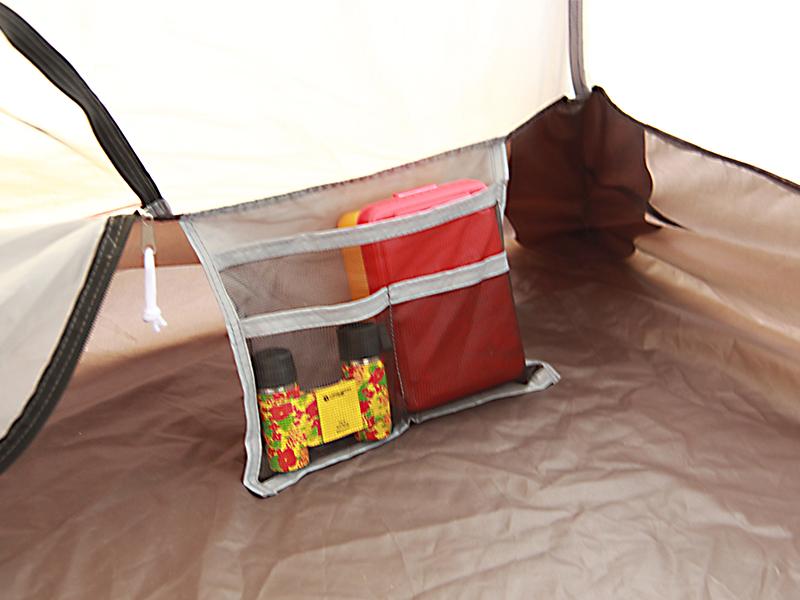 プレミアムワンタッチテントの各部の特徴(寝室ポケット)