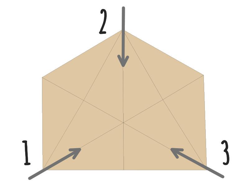 イレブンベースの各部の特徴(シンプルなトライアングル構造)