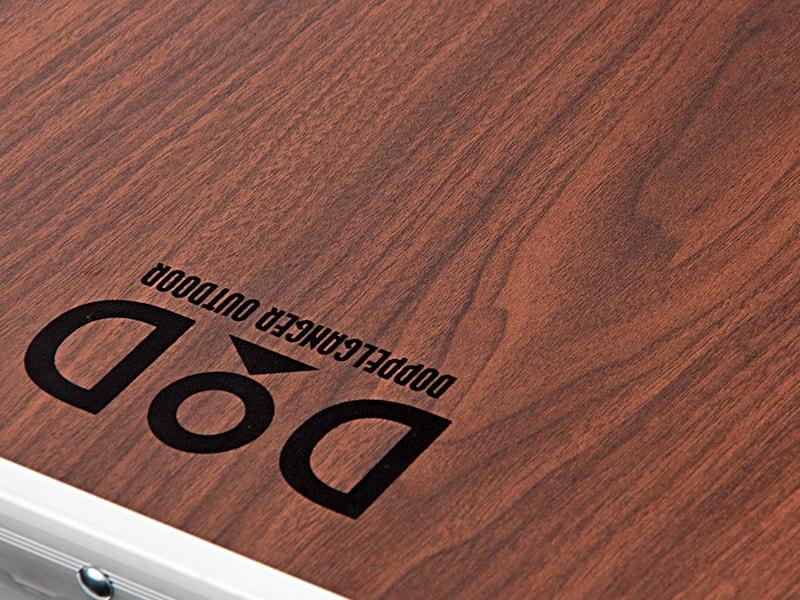 ストレージアウトドアテーブルの各部の特徴(木目天板)
