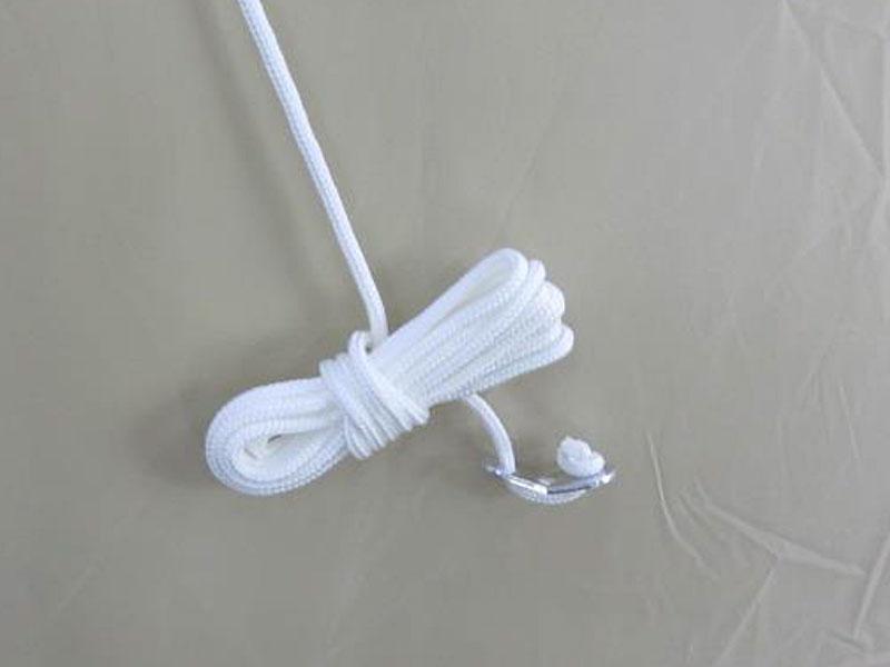 ビッグワンポールテントの各部の特徴(ストームロープ)