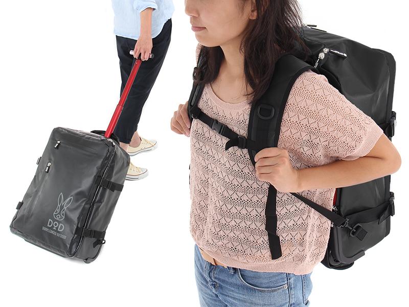 2WAYアウトドアキャリーバッグの使用の一例