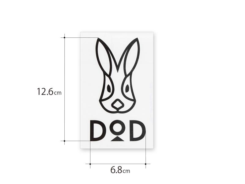 DODロゴステッカーLのサイズ画像