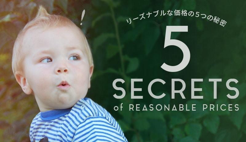 リーズナブルな価格の5つの秘密