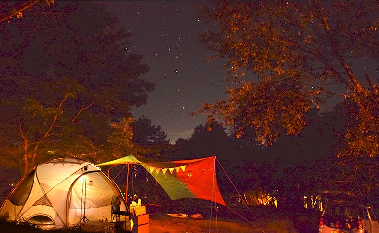 FBI大山 キャンプ 星空