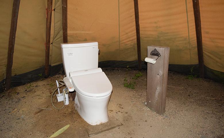 FBI大山 キャンプ トイレ2