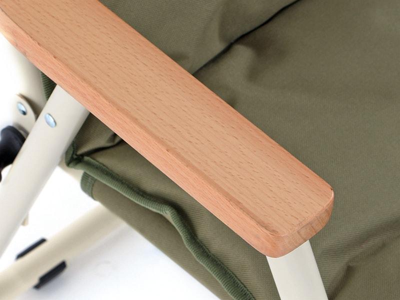 グッドラックソファの各部の特徴(木製アームレスト)