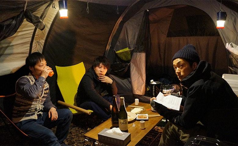 男キャンプ