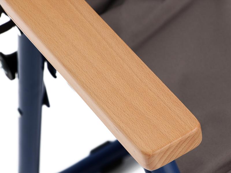 ワンハンドキャリーソファの各部の特徴(木製アームレスト)
