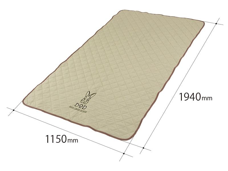シーツエアマット用クールパッドのサイズ画像