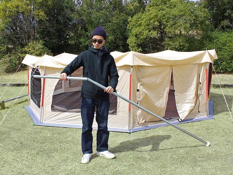 タケノコテントの組立/設営方法