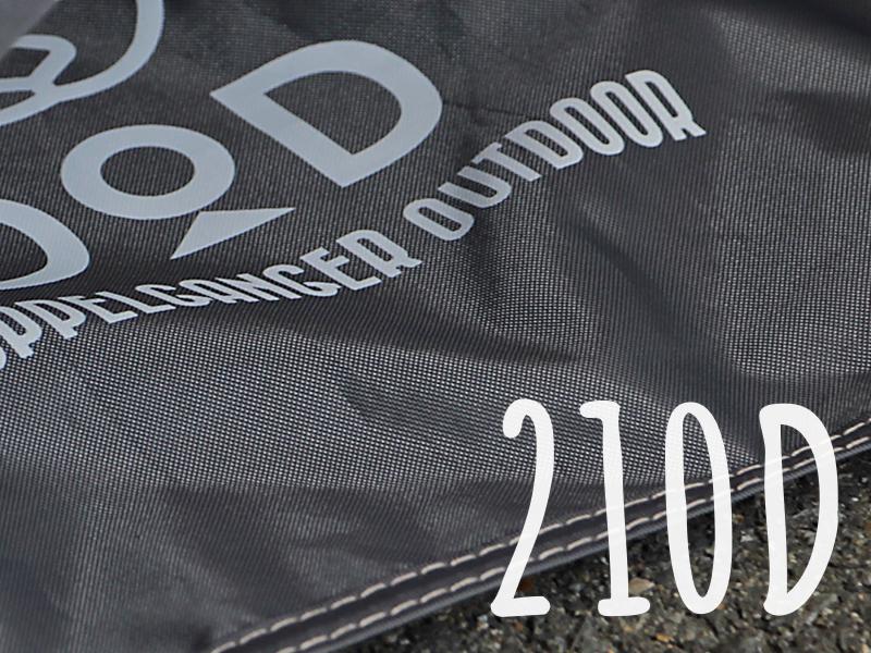 プレミアムワンタッチテント用グランドシートの各部の特徴(210Dポリエステル&耐水圧5000mm)