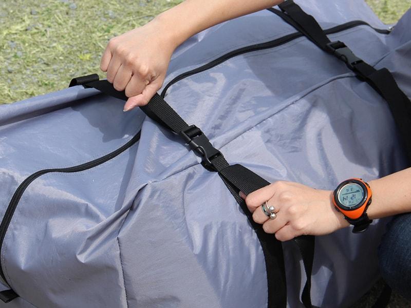 タケノコテントミニの各部の特徴(専用コンプレッションバッグ)