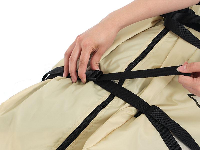 カマボコテント2の各部の特徴(専用コンプレッションバッグ)