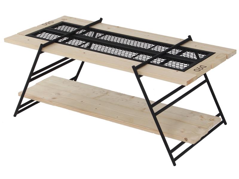 テキーラテーブルのメインの特徴(ワンバイ木材でカスタム可能)