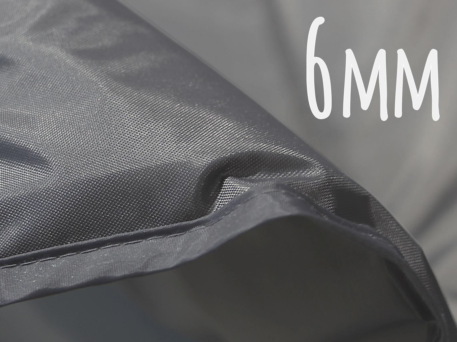 カマボコテント用マットシートセットのメインの特徴(地面の凸凹を吸収する6mm厚インナーマット)