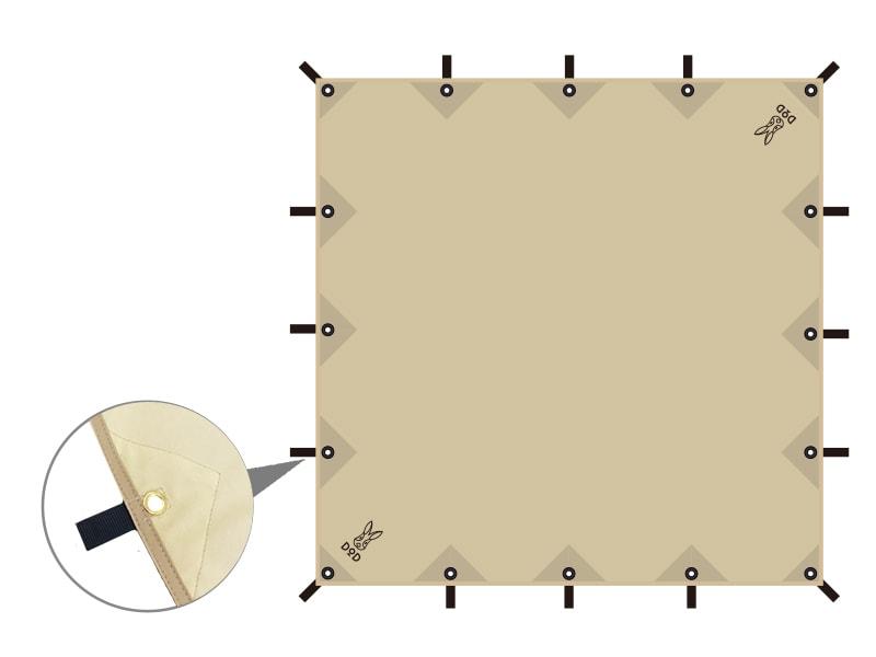 チーズタープのメインの特徴(全16ヶ所のグロメット&ループ)