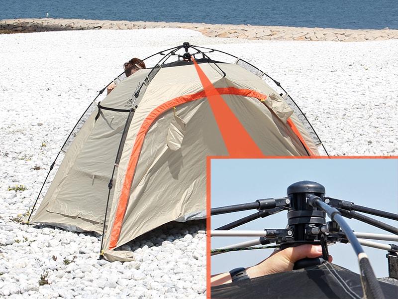 ワイドビーチテントの組立/設営方法