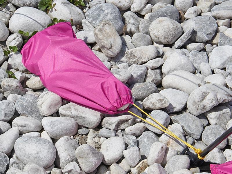 ワイドビーチテントの各部の特徴(サンドポケット)