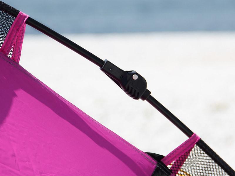 ワイドビーチテントの各部の特徴(グラスファイバーポール)